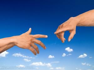Hände im Himmel